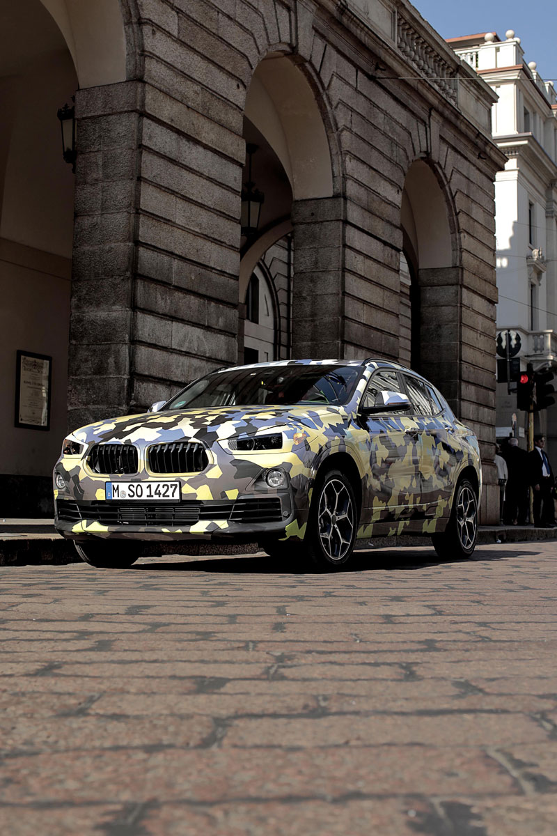 Bmw X2 Previewed In Digital Camouflage During Fashion Week Bmw Car Club Of America