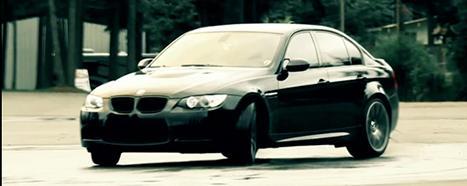A BMW navigates the Car Control Clinic Course