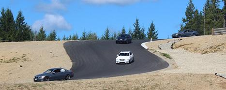 BMWs on The Ridge Race Track during a BMW Club Puget Sound Region High Performance Driving School event