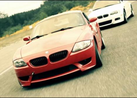 A BMW navigating the course during a High Performance Driving Education event.